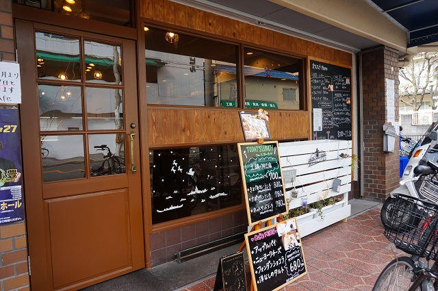 T1カフェ店前看板などDSC03654