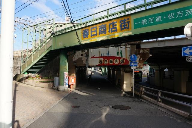 春日商店街入口のポストDSC04593