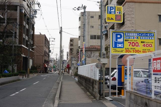 茨木税務署前コインパーキングから西方向DSC04775