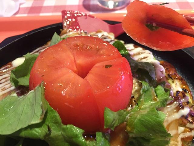 お好み焼きCafe紅組トマトの中身IMG_6178
