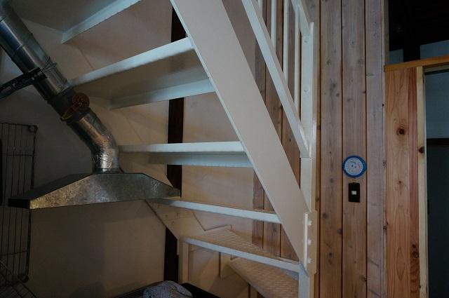 パティスリーシャン二階への階段