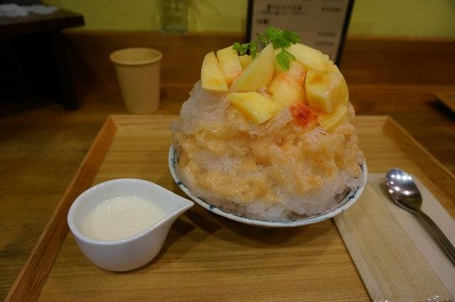 らんらん桃のかき氷DSC07911