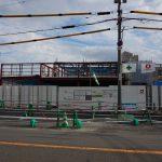 総持寺の阪急からJRまでの道路で、新しいスーパーの工事
