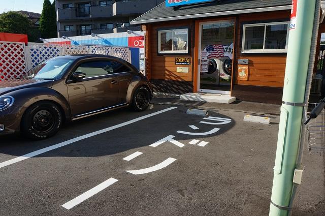 コインランドリー用の駐車スペースDSC08494