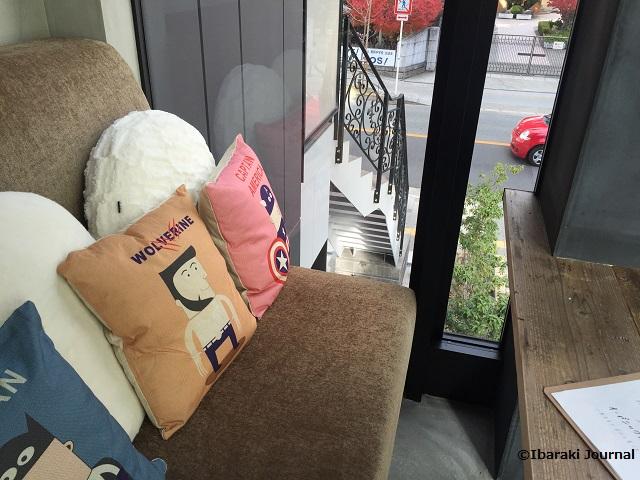 Jun&Pepper'sカフェはしっこの席