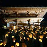 ロウソクの灯りにうっとり。総持寺の竹灯籠はやっぱりステキだった。