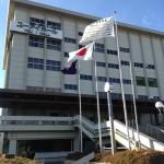 茨木市役所らへん風強いです