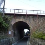 茨木市田中のまるまたのトンネルを反対から