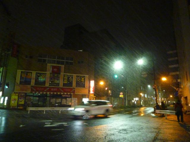 2月7日雪の夜