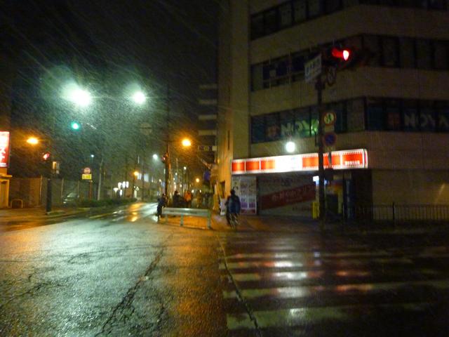2月7日夜の雪2