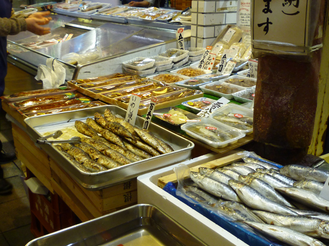 阪急本通商店街たくやさんのいわし