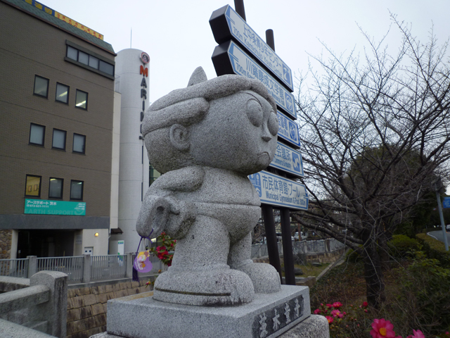 茨木高橋交差点の南側童子