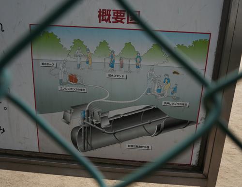 若園公園貯水槽概要図