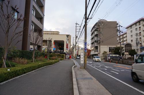 中津長中村医院の前の道