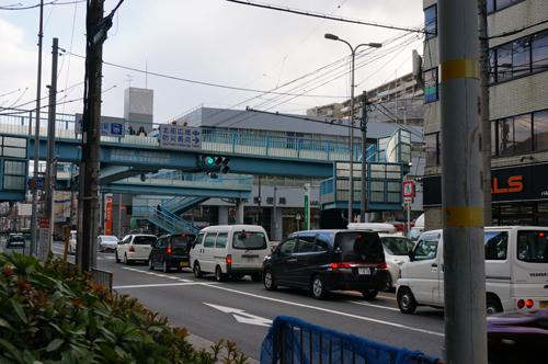 宇野医院前の産業道路