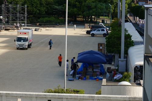 茨木中央公園南グラウンドのテント