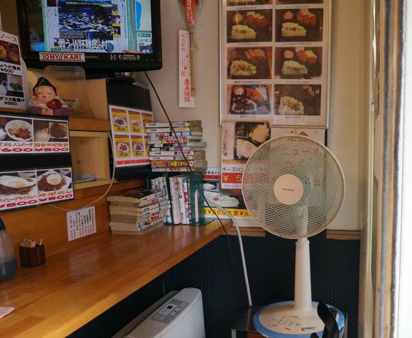 えびすヤ店内の扇風機