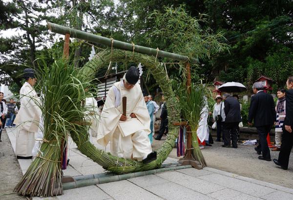 茨木神社茅の輪
