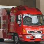 消防車のアップ119番