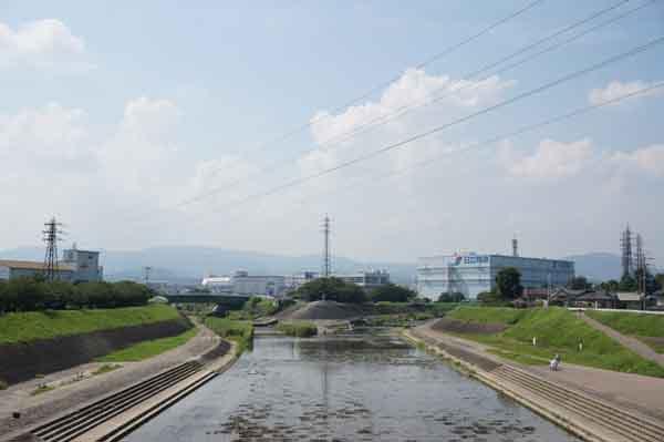 安威川と茨木川