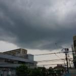 茨木郵便局の上の空