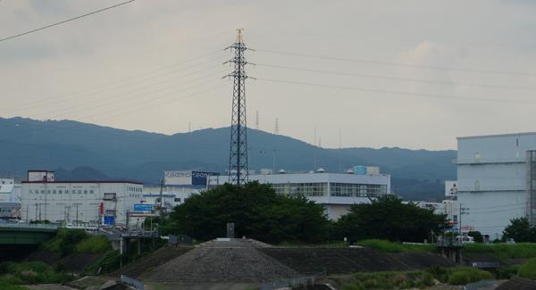 安威川と茨木川の合流場所