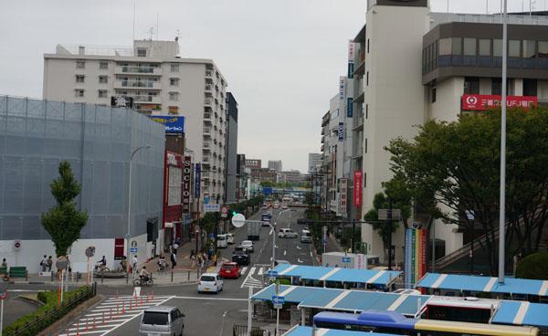 JR茨木バスターミナルから
