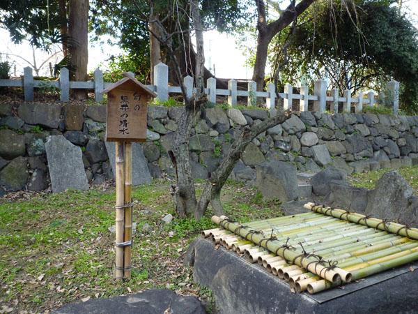 黒井の清水の看板と井戸