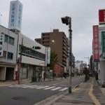 茨木市・中央通りの周山堂あたり
