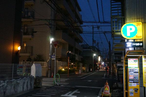 竹橋町コンランドリー前道路