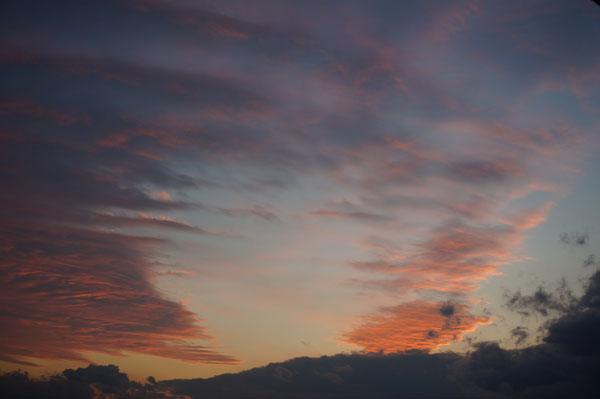茨木の夕焼け空