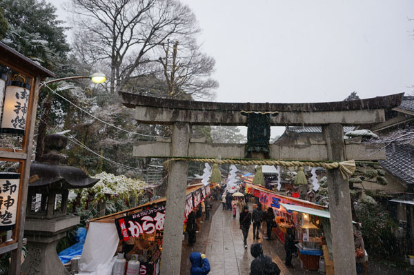 茨木神社の雪景色