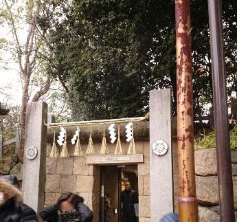茨木神社と駐車場