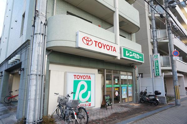 高瀬川通りのトヨタレンタリース