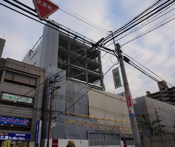 阪急茨木市駅そば茨木ビル工事全景