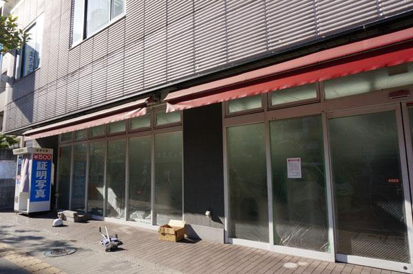 中央通り100円ローソン前閉店工事