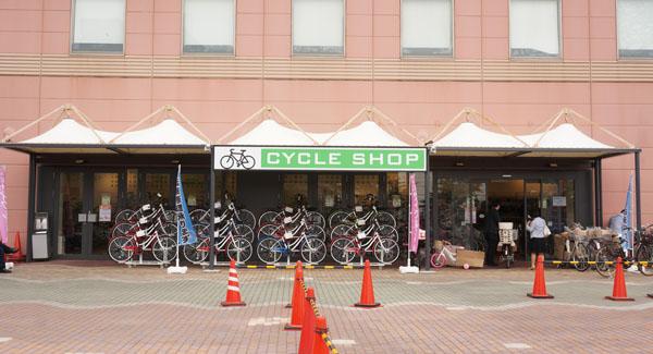イオンモール自転車屋さん