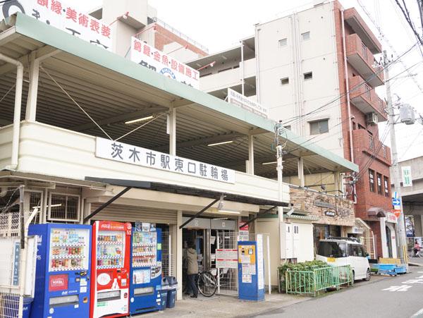 茨木市駅東口駐輪場入口