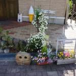 茨木彩都パン屋シャンボールの入り口の前