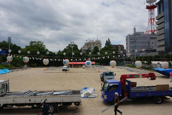 茨木フェスティバル準備南グランド