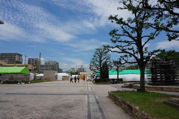 茨木フェスティバル前日北側