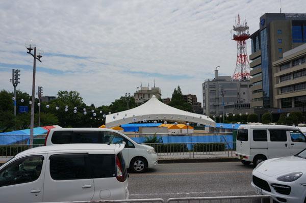 茨木フェスティバル前日南側