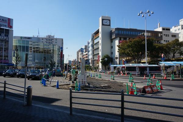 JR茨木西ロータリーのところの工事