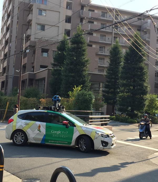 グーグルの車方向転換