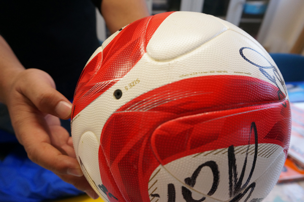 茨木バルにナビスコカップのボール