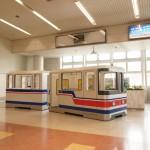 万博公園駅のモノレール模型