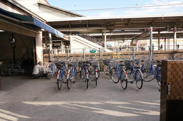 JR茨木駅レンタサイクルの様子