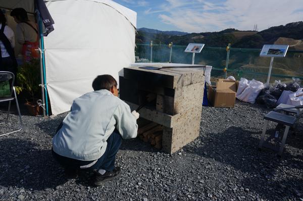 石やきピザの石窯