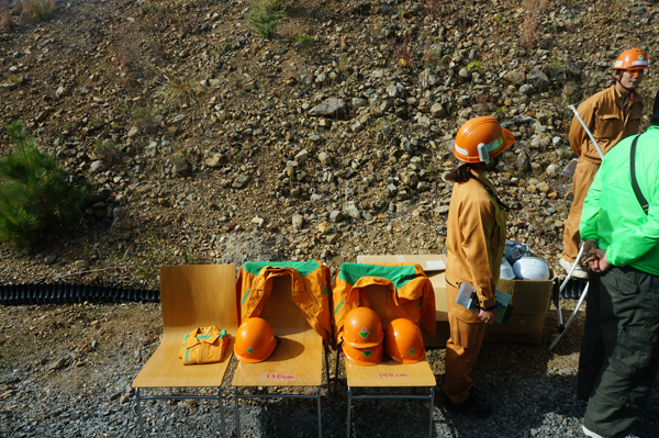 安威川ダム見学ツアー用ヘルメット