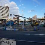 JR茨木西ロータリー工事の昼間